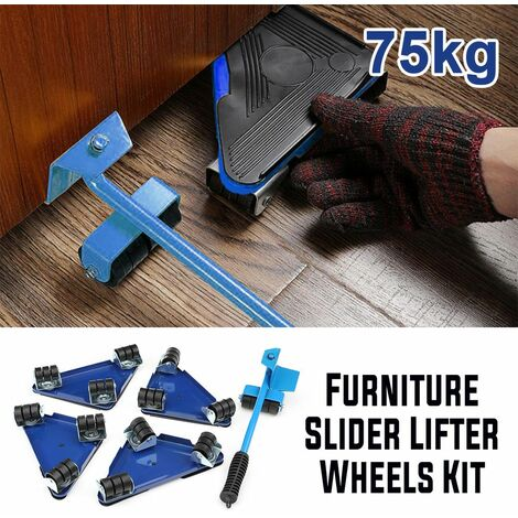 75kg Series 5x Furniture Slider Lifter Moves Wheel Moving Kit Home Mobile Lifting System