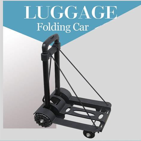 75kg travel small poratable four-wheel trailer folding luggage trolley tank wheel cart carrier shopping trolley