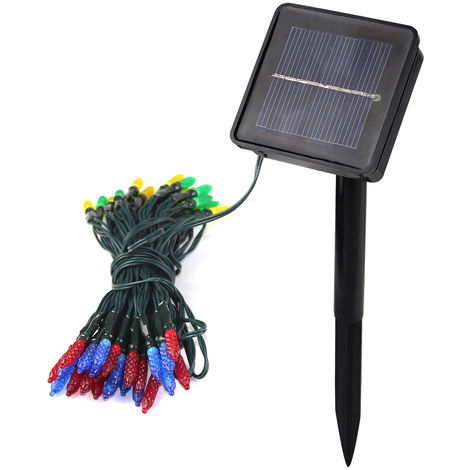 7.5m 50-LED white solar icicle light string outdoor garden decoration light color