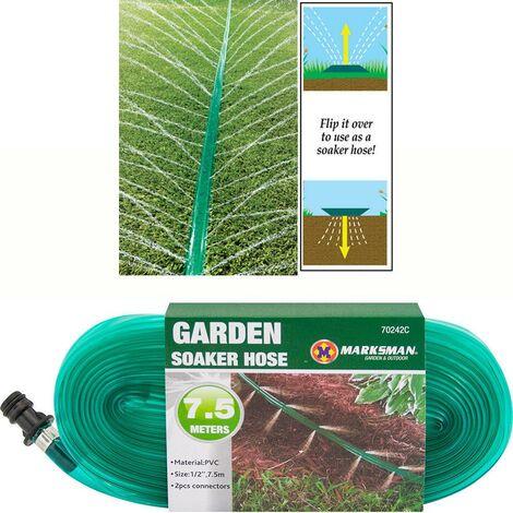 7.5M SOAKER HOSE PIPE GARDEN DRIP IRRIGATION WATERING SPRINKLER LAWN PLANTS NEW
