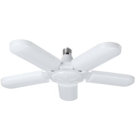 75W 6500K E27 140 LED 2835smd 165-265V Garage lumière déformable plafonnier lampe atelier cinq feuilles lumières coolwhite 75W