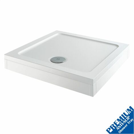 760 x 760mm Shower Tray Square Easy Plumb Premium Anti-Slip FREE High Flow Waste