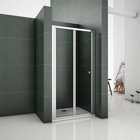 "main image of ""Bifold Shower Enclosure 5mm Glass Door Walk In Cubicle 700 760 800 860 900 1000"""