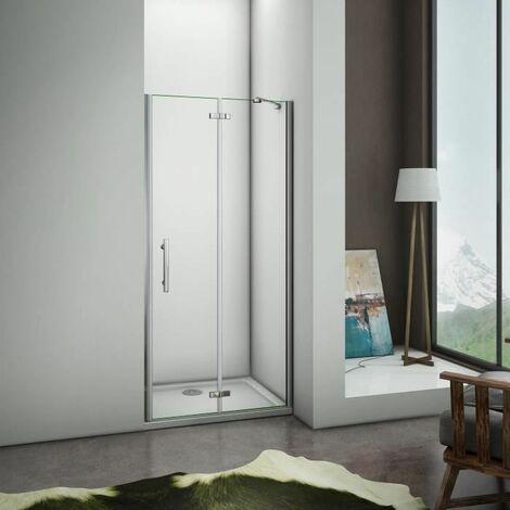 "main image of ""Frameless Pivot Hinge Door Walk In Shower Enclosure Glass Screen Cubicle"""