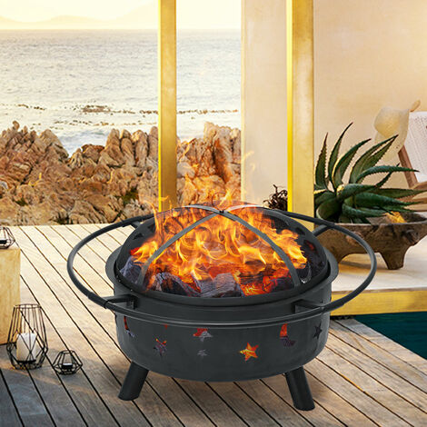 """main image of """"76CM Fire Pit BBQ Grill Heater Firepit Patio Brazier"""""""