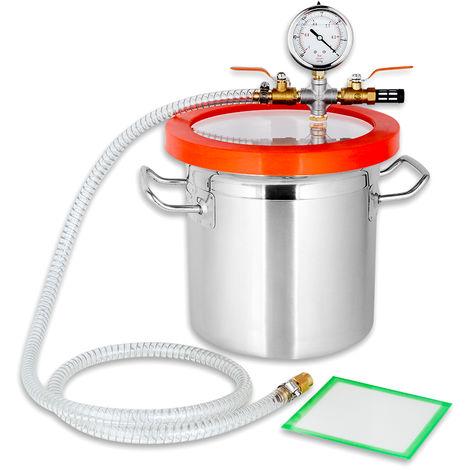 7,6L Vacuum Chamber Stainless Steel 20x20cm Degassing Chamber Resin Trap