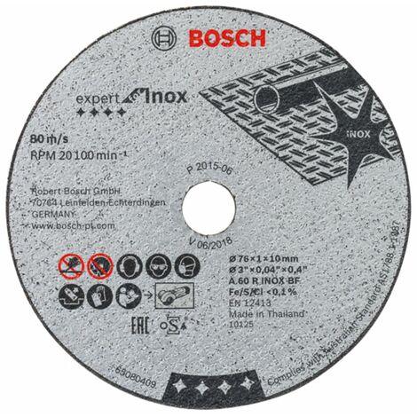 Ø 76mm 5 Stück Trennscheibe Inox A 60 R INOX BF für Akku Winkelschleifer