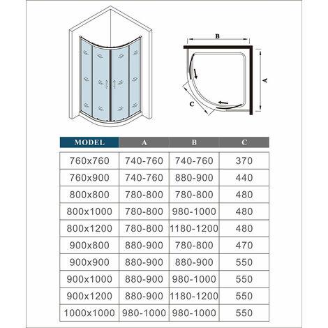 """main image of """"AICA Quadrant Shower Enclosure shower Cubicle Enclosure Sliding Door"""""""