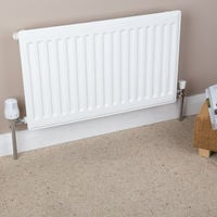 770mm High x 750mm Wide Designer Heated Convector Single Panel Single Convector White Type 11 Compact Radiator