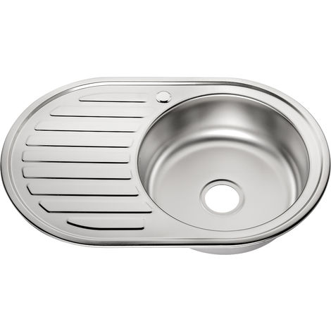 77CM Stainless steel sink Round sink Built-in Sink + shelf Kitchen Sink basin