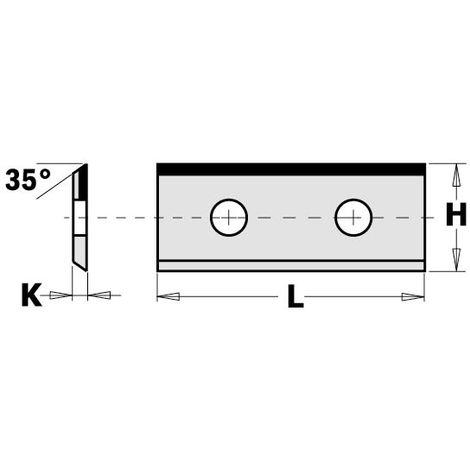 790.300.60 PAIR KNIVES (1/35°) 30X12X1.5MM DP