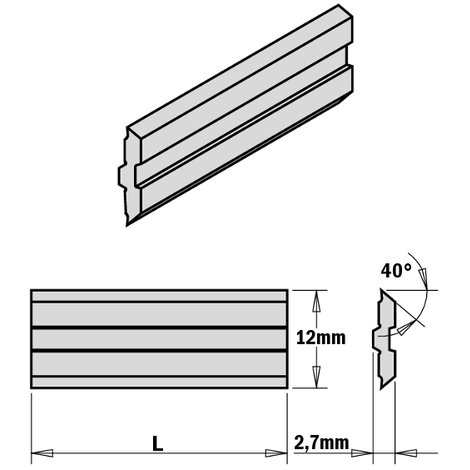 795.12 PLANER AND JOINTER KNIVES FOR CENTROSTAR, CENTROFIX AND QUICKFIX SYSTEMS