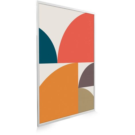 795x1195 Abstract Circles NXT Gen Infrared Heating Panel 900W - Different Frame Colours Available