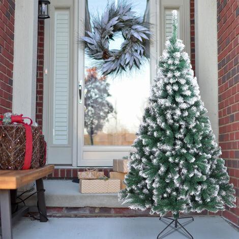"main image of ""7FT 213cm Artificial Xmas Trees Spray White PVC Christmas Tree 870 Branches"""