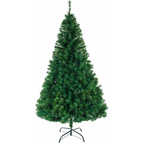 """main image of """"7ft Christmas Tree, Foldable Indoor Large PVC Encrypted Christmas Decoration Tree Office Party Green - Green"""""""