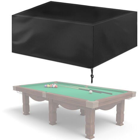 """main image of """"9ft Waterproof Billiard Table Cover Folding Pool Table Cover Dustproof Cover Moisture Resistant Durable Oxford Furniture Protection Case for Indoor Outdoor,model: L"""""""