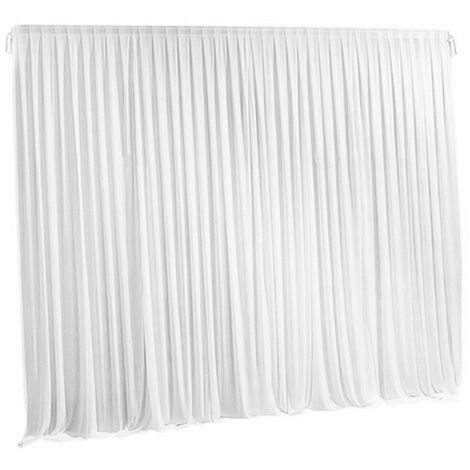 7ft White Backdrop Curtains Wedding Birthday Photography Stage Drapes Masquerade