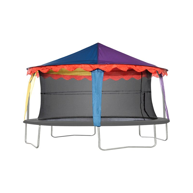 Image of 7ft x 10ft Oval Circus Tent Canopy - JUMPKING