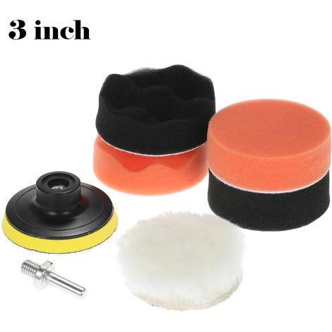 7PCS, almohadillas de pulido de automoviles, esponja de almohadilla de pulido encerado, con vastago