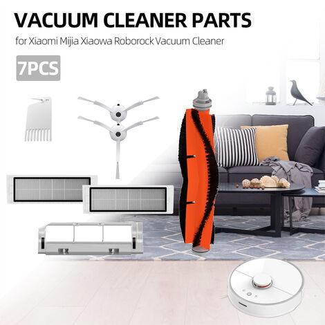 7pcs piezas del aspirador HEPA Filtro de limpieza de herramientas del lado del cepillo Cepillo principal y la cubierta, para Xiaomi Mijia Xiaowa Roborock Aspiradora