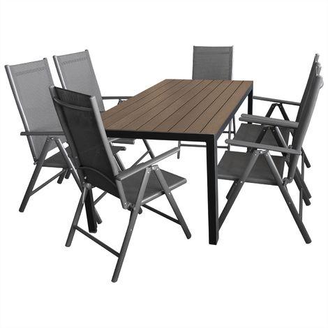 7tlg gartenm bel terrassenm bel set gartengarnitur. Black Bedroom Furniture Sets. Home Design Ideas