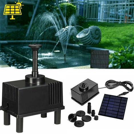 7V 1.5W panneau solaire 180L / H pompe à eau étang de jardin fontaine d'aquarium submersible Kit de pompe à eau debout pour jardin et terrasse paysage fontaine piscine