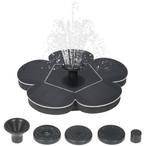 """main image of """"7V 1.5W Solar Water Pump Fountain Garden Floating Plants Watering Power Fountains Pool Home Garden Fish Pond Waterpump,model:Black"""""""