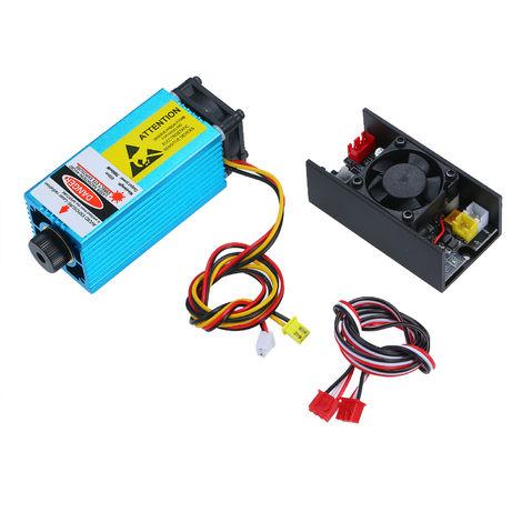 7W 450nm azul-violeta laser Jefe de Alluminum aleacion ligera de bricolaje CNC que talla la maquina de grabado del grabador de accesorios