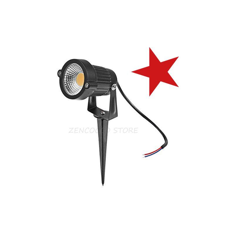 7W Lampada da Giardino Faretto COB LED 700lm con Picchetto IP65 | verde