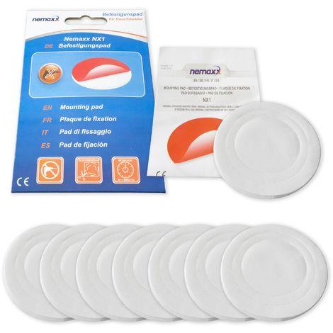 7x Nemaxx NX1 Adhesivo circular de doble cara - Adhesivo de fuerte fijación para un montaje rápido y sencillo de Detectores de humo