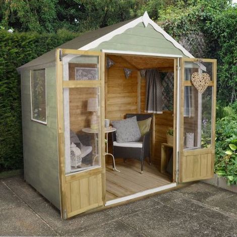7'x5' (2.1x1.5m) Forest Woodstock Overlap Apex Summerhouse