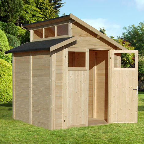 7x7 Skylight Shed - Unpainted Natural