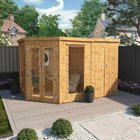 7x7 Waltons Corner Summerhouse With Side Shed