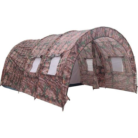 8-10 Person Waterproof Camping Garden Party Shelter Camouflage