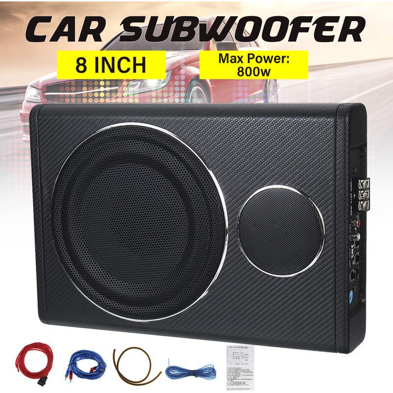 8 '12V 800W voiture subwoofer haut-parleur amplificateur Audio véhicule subwoofer basse enceinte Auto son voiture amplificateur Audio sous-siège