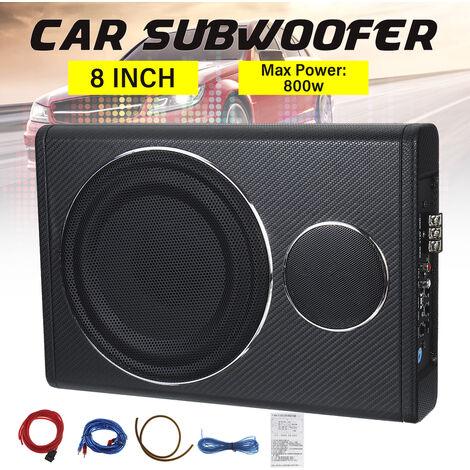 """8 """"12V 800W voiture subwoofer haut-parleur amplificateur Audio véhicule subwoofer basse enceinte Auto son voiture amplificateur Audio sous-siège"""