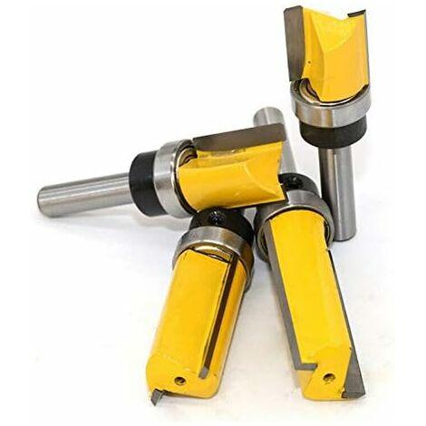(8 * 3/4 * 50mm)jaune- Fraise à copier défoncer,fraise droite queue 8 mm de copiage serie,pour faire à la main un tiroir ou autre travail du bois