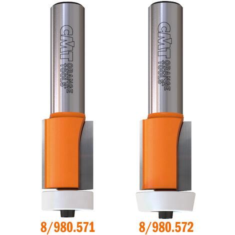 8/980.571-572 FRAISES AVEC ROULEMENT A AFFLEURER SUR MATERIAUX COMPOSITES