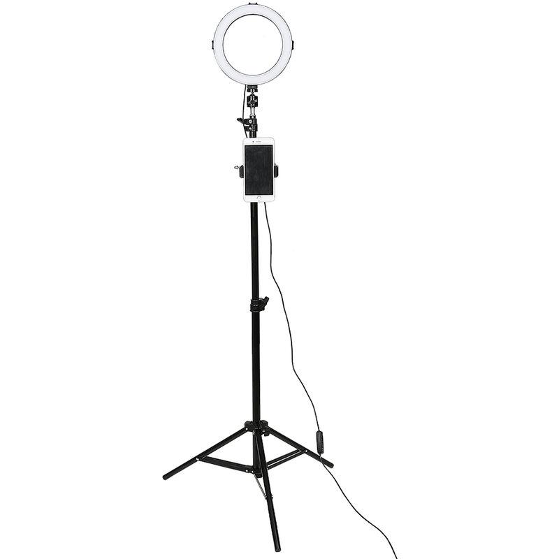 Skecten - 8' Anneau LED Lumière, LED Lumière de Remplissage Photo Retardateur, pour la Prise de Vue Vidéo Maquillage