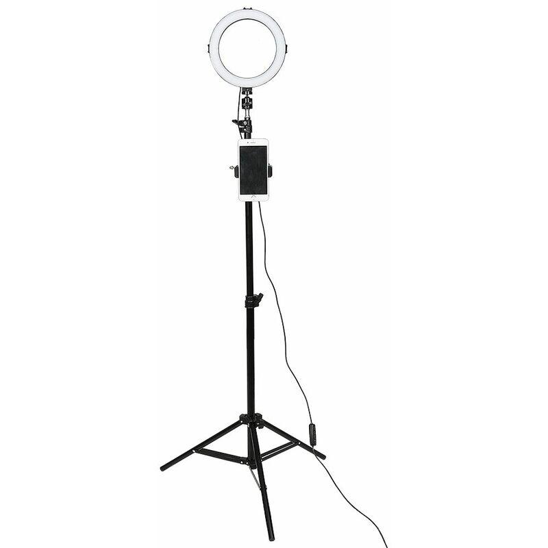 8' Anneau LED Lumière, LED Lumière de Remplissage Photo Retardateur, pour la Prise de Vue Vidéo Maquillage