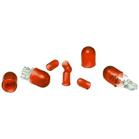 8 caches ampoules - T5 T10 - Rouge