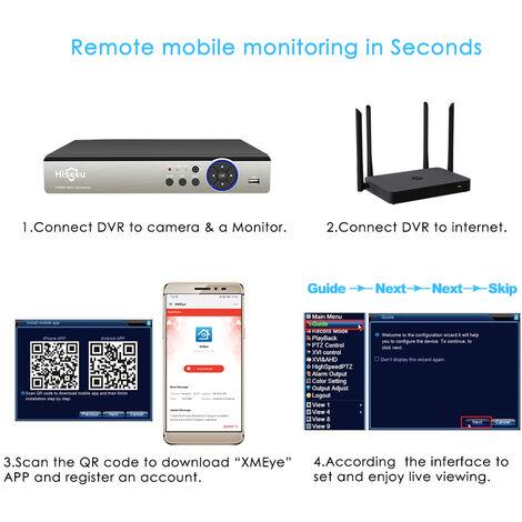 8 canales CCTV DVR AHD CVI TVI CVBS IP Grabadores DVR 5-en-1 para CCTV Sistema de seguridad VGA HDMI