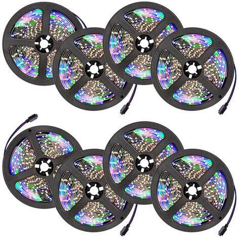 8 cintas LED 5m 300 LEDs - tira de led con pila de litio, tira de luces led de bajo consumo energético, luminarias led de distintos colores - blanco