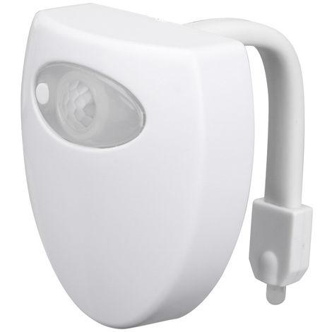 8-color Ajustes de bano WC Noche de luz LED Cuerpo de movimiento activado Encendido / Apagado Asiento lampara de deteccion