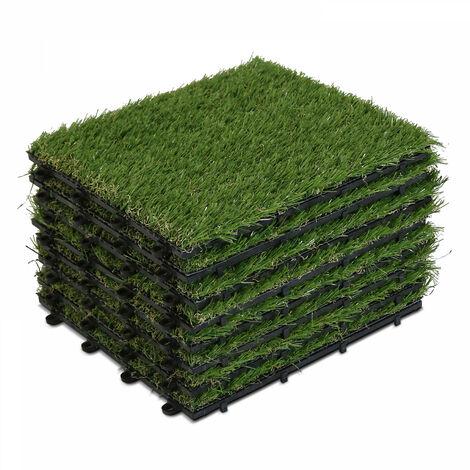 8 dalles clipsables gazon synthétique Arena - Vert