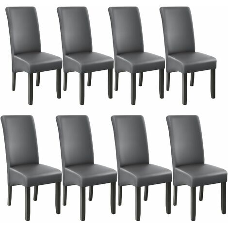 8 Dining chairs with ergonomic seat shape - dining room chairs, kitchen chairs, dining table chairs