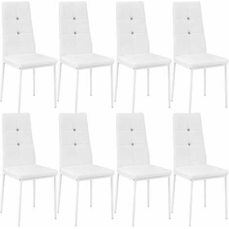 8 dining chairs with rhinestones - dining room chairs, kitchen chairs, dining table chairs