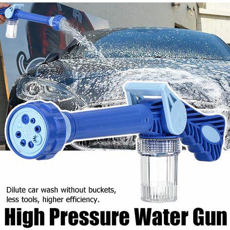 8 en 1 Portable haute pression nettoyeur de pulvérisation de nettoyage de voiture arrosage lavage multifonction jardin mousse pistolet à neige