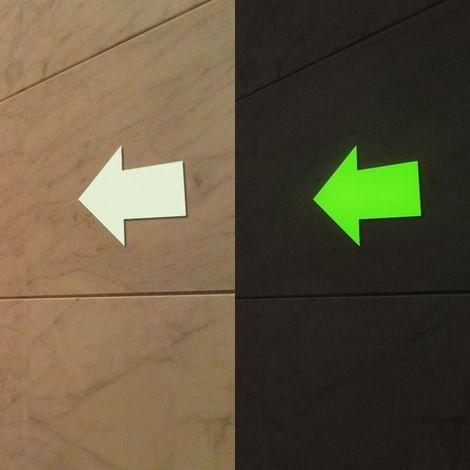 8 Frecce adesive che si illuminano al buio segnalazione pavimento