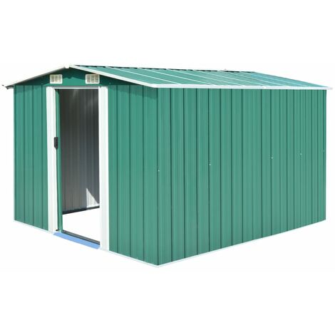 8 ft. W x 10 ft. D Apex Metal Shed by WFX Utility - Green